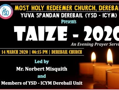 YSD to organise Taize 2020