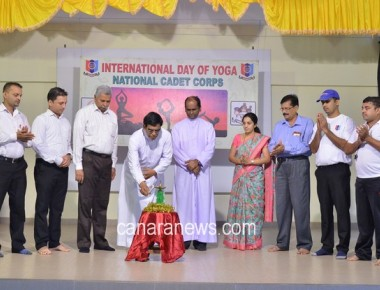 International Yoga Day celebrated at St Philomena Institutions Puttur