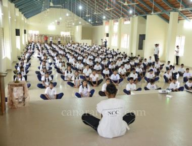 Puttur St Philomena Institutions celebrate International Yoga Day