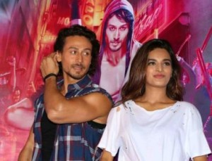 Tiger Shroff and Nidhhi Aggarwal during the launch of the song  from the movie Munna Michael (Ding Dang)