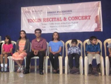 Abreo Violin Prodigies from Texas enthrall crowd at Bajjodi old-age home
