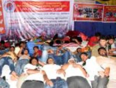 ABVP begins 48-hour protest against Amnesty International