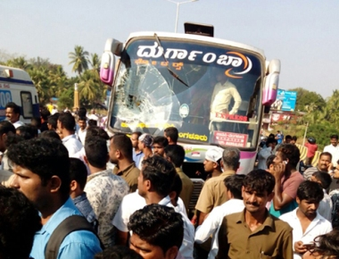 Bus-ambulance collision on Heroor bridge disrupts traffic