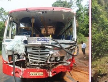 KSRTC buses collide near Golitottu
