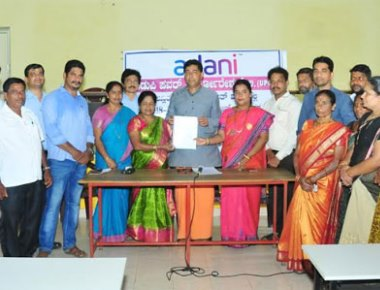 Yellur GP gets CSR grant commitment of Rs 1.45 crore from Adani UPCL