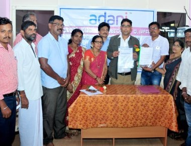 Adani UPCL gives grant worth Rs one crore to Palimar GP for development work