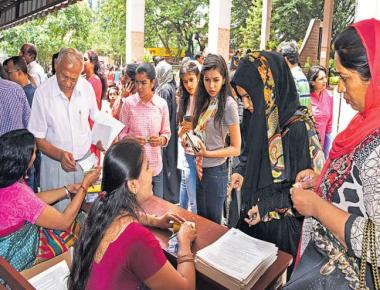 Rush for PU admissions; order on cut-off marks yet to reach colleges