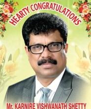 Heartily Congratulations to Karnire Vishwanath Shetty