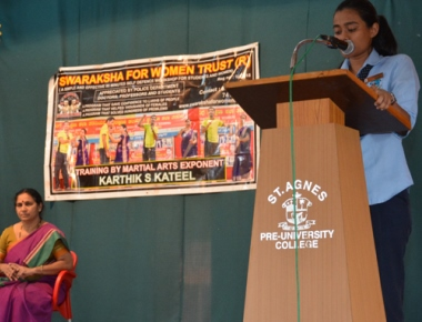 Session on self-defence techniques for women held at St Agnes PU College