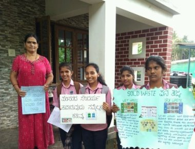 St Agnes College (Autonomous) Conduct a Survey and to create awareness about Solid Waste Management.