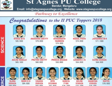 St Agnes PU College shines with 97.30% result