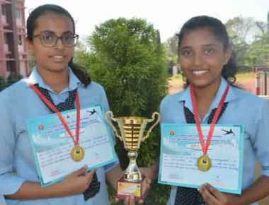 St Agnes PU College Karate team emerge runners up at district Karate Tourney