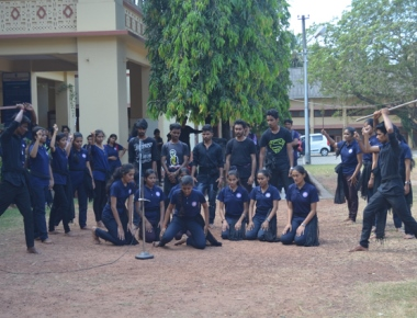 Workshop on street play conducted at St Agnes College