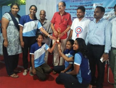 St Agnes Degree College team shines in swimming competition