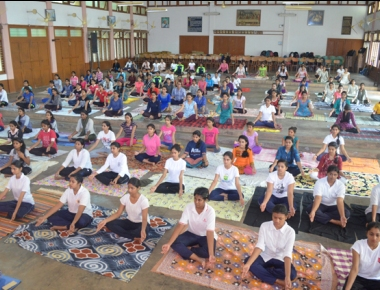 St Agnes College celebrates International Yoga Day
