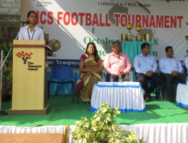 AICS football tournament held at Yenepoya soccer grounds