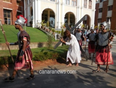 AIMIT students enact 'Way of the Cross'