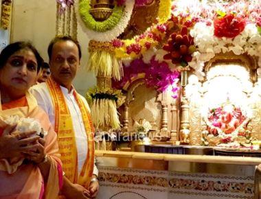 Shri Ajit Dada Pawar visits Lalbaugcha Raja and Siddhivinayak temple