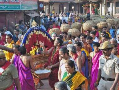 Paryaya: Palimar Mutt performs 'Akki Muhurta'