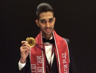 Alester D'Souza is 2nd runner up in Mr India Manhunt