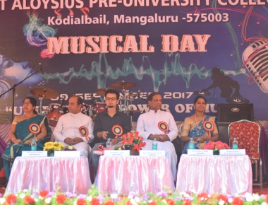 St Aloysius PU College organises 'Musical Day 2017'