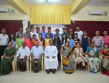 St Aloysius PU College felicitates CPT toppers