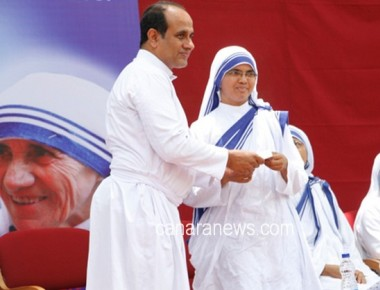 Aloysius College organises program to commemorate the canonization of Mother Theresa