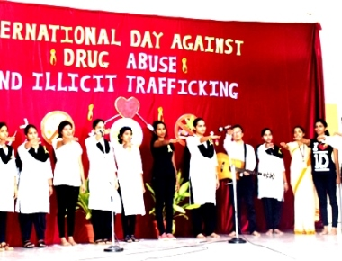 St Aloysius BEd College observes anti drug day