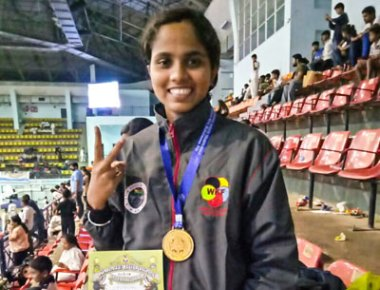 St Aloysius College student bags gold medals in Karate