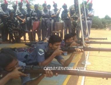 Range firing for NCC Cadets held at Alva's