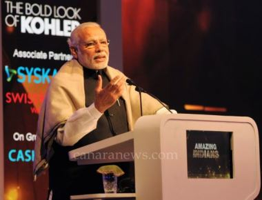 PM gives away the 'Times Now'  Amazing Indians Awards Season 4