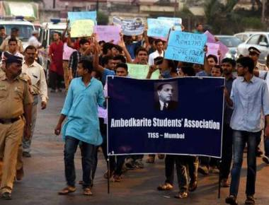 TISS students march to protest suspension of eight JNU students