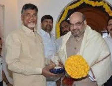 Chandrababu meets Amit Shah, prez poll figures in talks