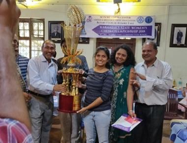 Andria D'Souza of St Aloysius College wins Karnataka State Women's Chess Championship