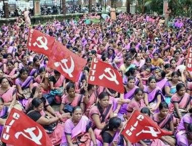 Anganwadi workers stage dharnaseeking fulfilment of demands