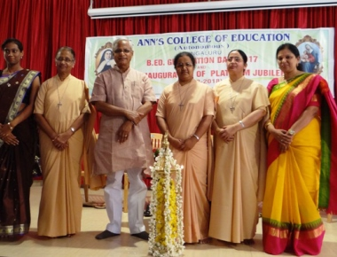 J R Lobo inaugurates St Ann's College platinum jubilee, celebrates Graduation Day
