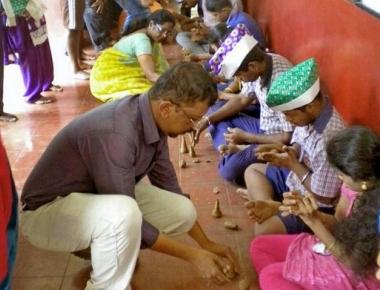 Special children enjoy art workshop