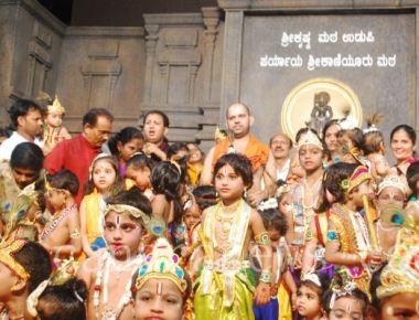 'Muddu Krishna'  dress competition at Udupi Krishna Temple