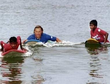 Australian instructors making waves on the beach