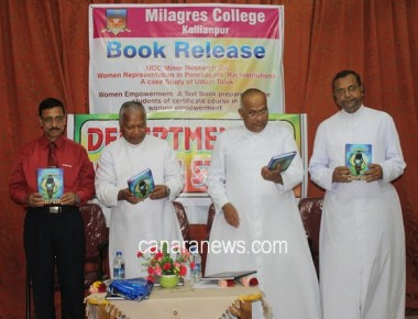 Two Books Released at Milagres College, Kallianpur