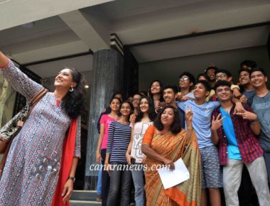 Toppers of Balmohan Vidyamandir celebrate after getting their SSC results