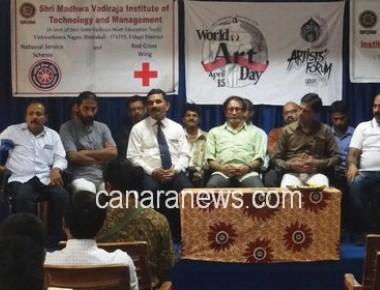 World Art Day celebrated at SMVITM, Bantakal