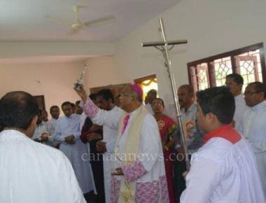 Bishop inaugurates new presbytry at St Michael church