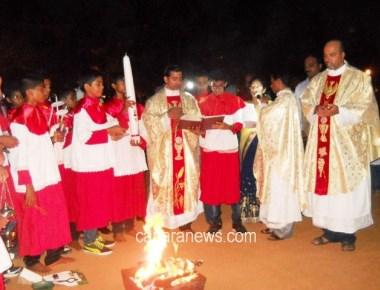 Easter celebration at Holy Rosary Church Kundapur