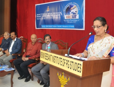 International conference on 'BREXIT' held at MSNM Besant college on Feb 2, 3