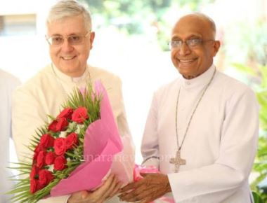 Archbhisop Moras Receives and Greet India's Newly Appointed Apostolic Nuncio