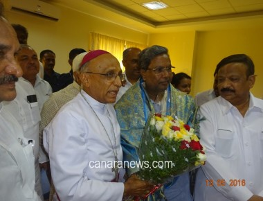 Archbishop felicitated CM on three year completion as CM