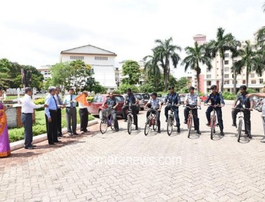 Bicycle riders for campus patrol