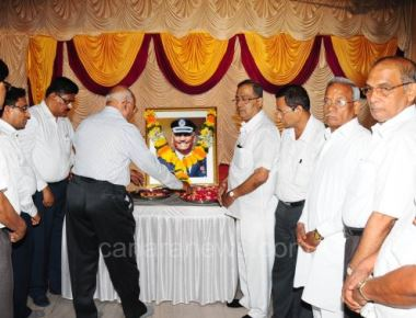 Condolences for the sad demise of Sudhir G Amin at Billawa Bhavana