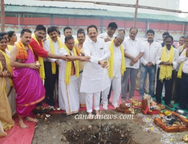 Foundation stone laying ceremony for new building of the Billawar Association local office,  Navi Mumbai